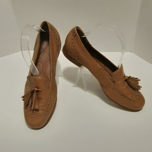 Born leather loafers with tassel detail.